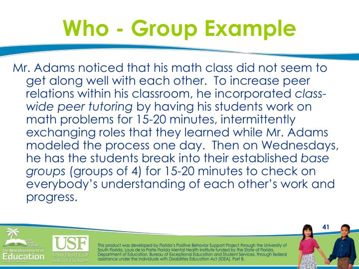Who - Group Example