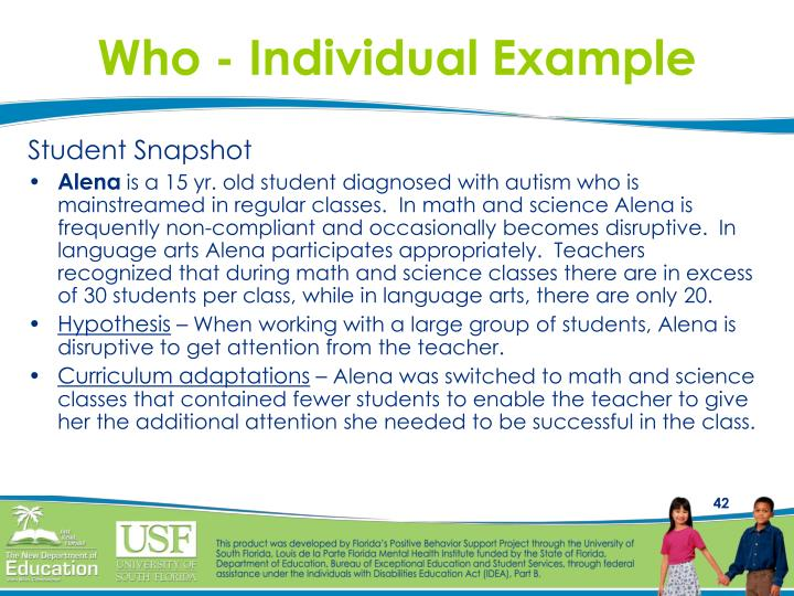 Who - Individual Example