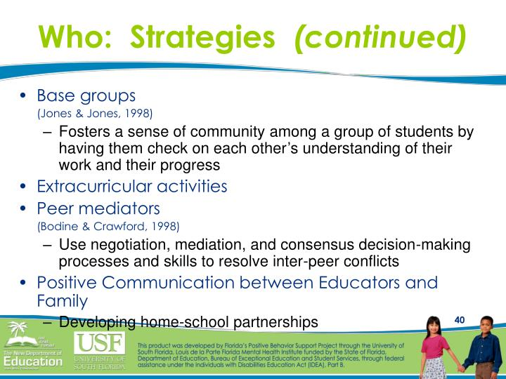 Who:  Strategies