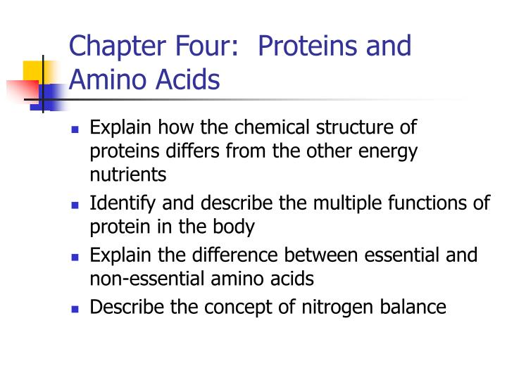 Chapter four proteins and amino acids