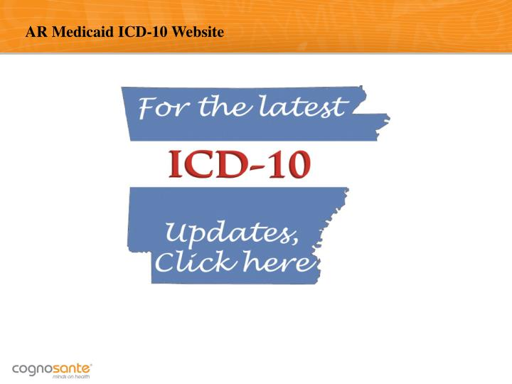 AR Medicaid ICD-10 Website