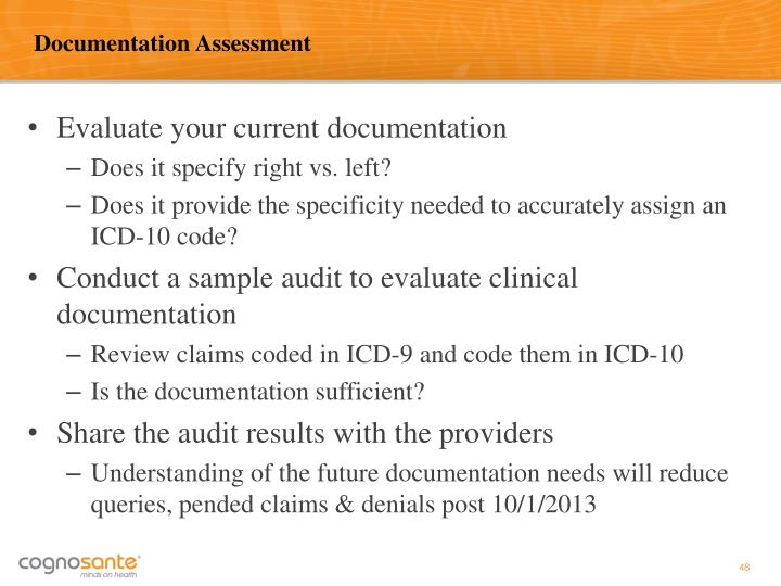 Documentation Assessment