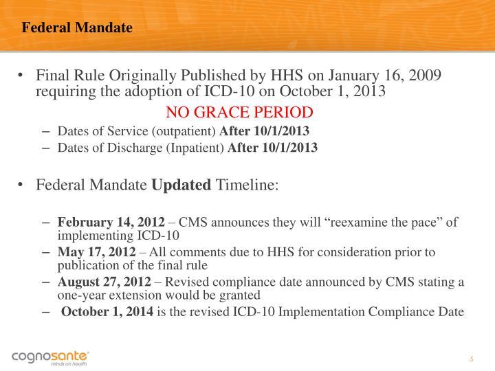 Federal Mandate