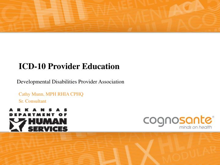 Icd 10 provider education