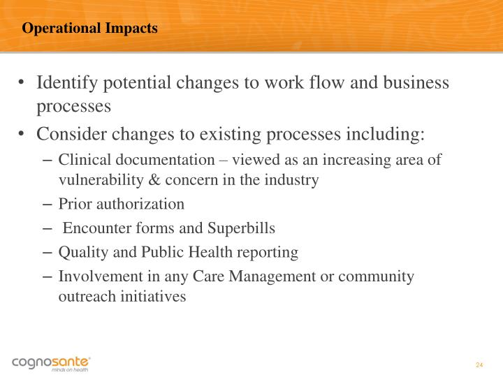 Operational Impacts