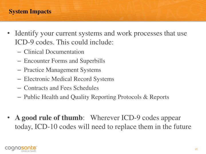 System Impacts