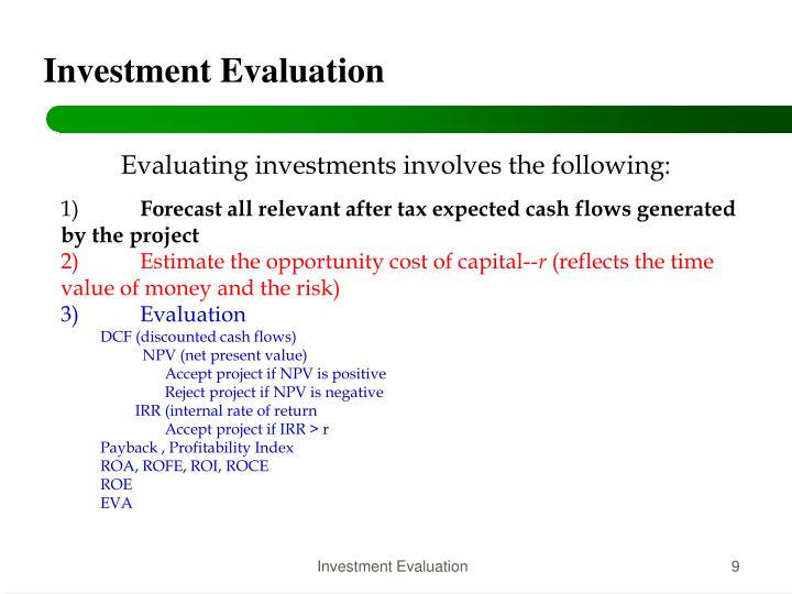Investment Evaluation