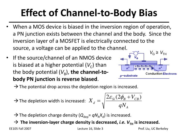 Effect of Channel-to-Body Bias