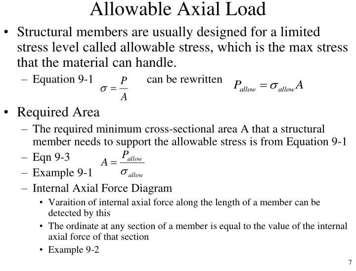 Allowable Axial Load