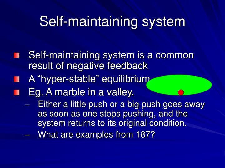 Self-maintaining system