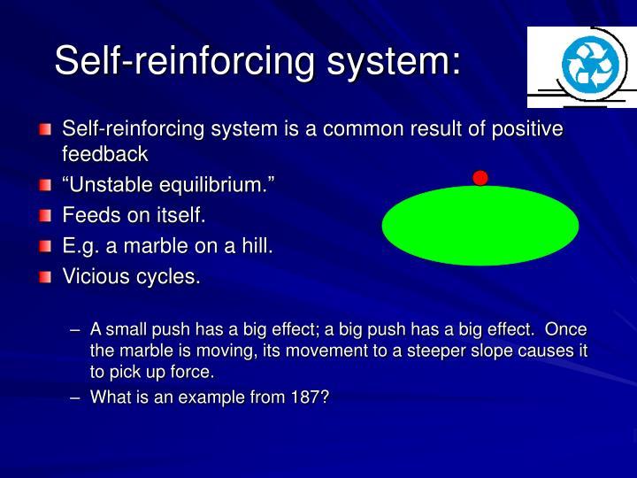 Self-reinforcing system: