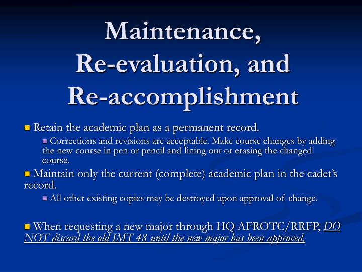 Maintenance,