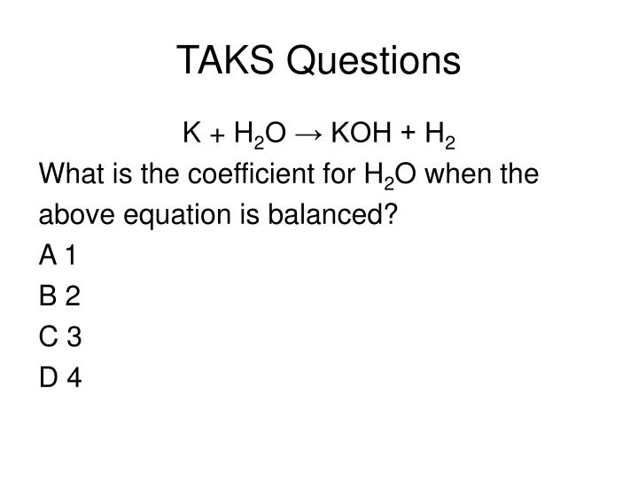 TAKS Questions