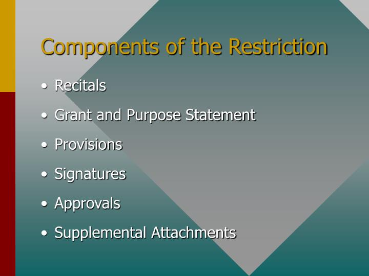 Components of the Restriction