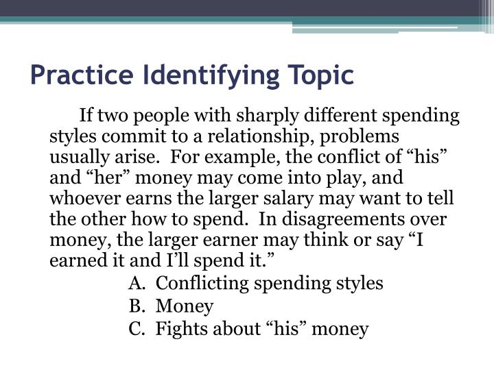 Practice Identifying Topic