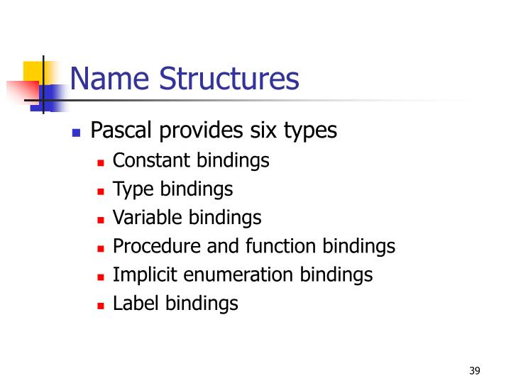 Name Structures
