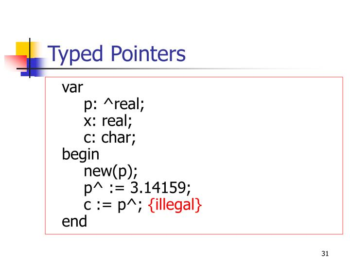Typed Pointers