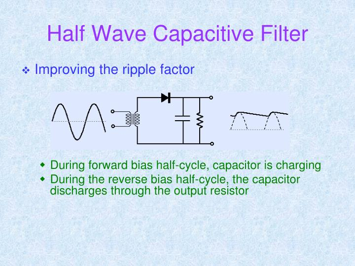 Half Wave Capacitive Filter