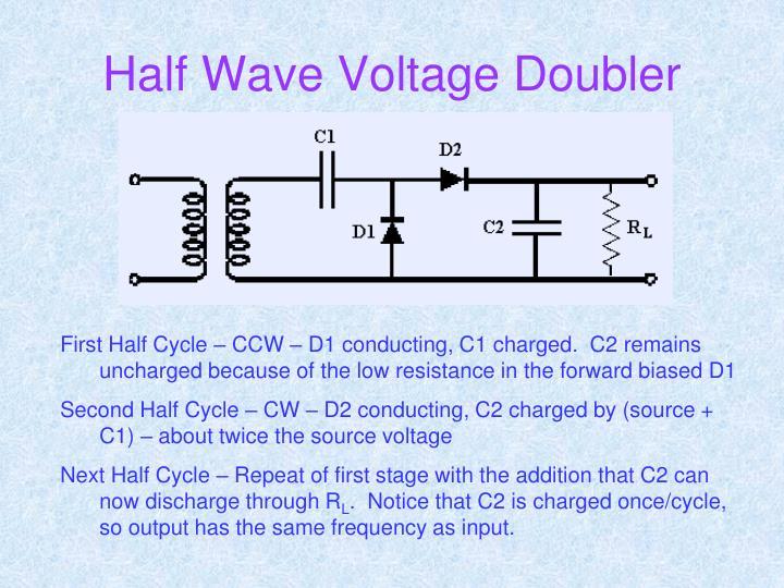 Half Wave Voltage Doubler