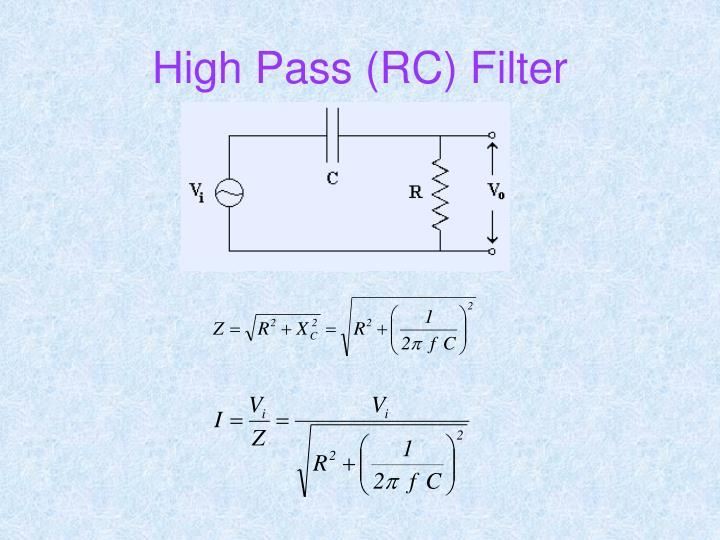 High Pass (RC) Filter