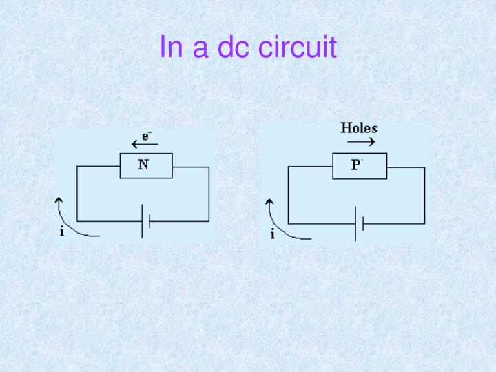 In a dc circuit