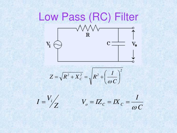 Low Pass (RC) Filter
