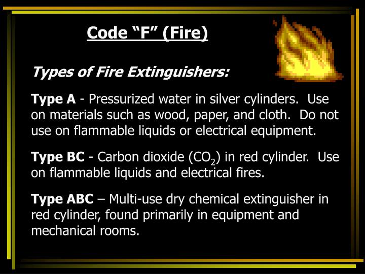 "Code ""F"" (Fire)"