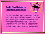 code pink infant or pediatric abduction1