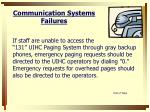 communication systems failures1