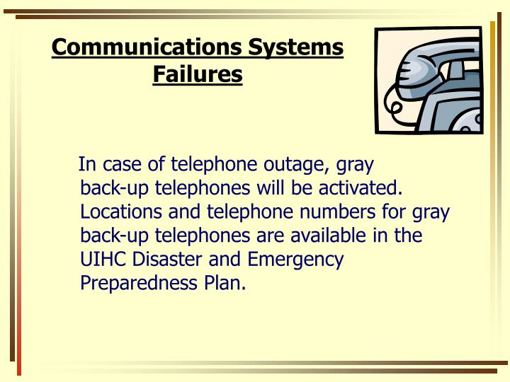Communications Systems Failures