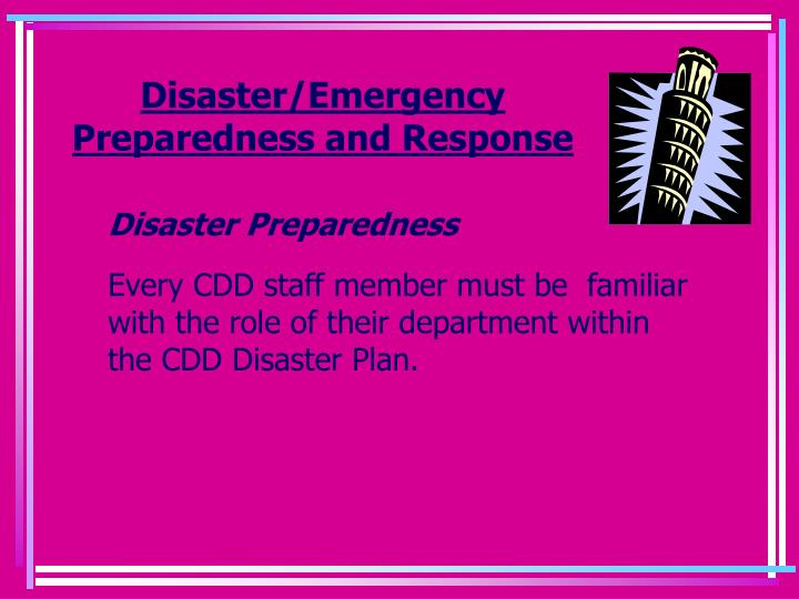 Disaster/Emergency