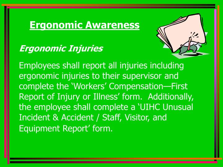 Ergonomic Awareness