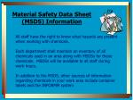 material safety data sheet msds information
