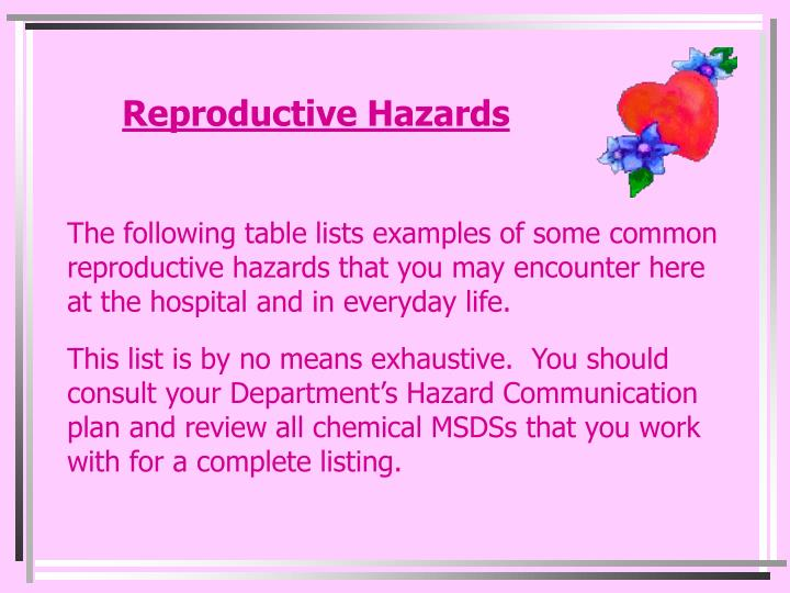 Reproductive Hazards