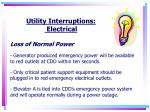 utility interruptions electrical