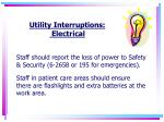 utility interruptions electrical1