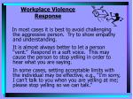 workplace violence response