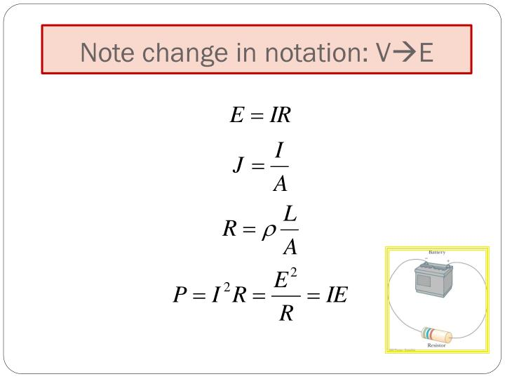 Note change in notation: V