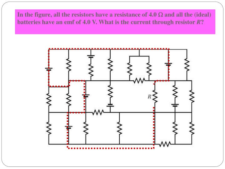 In the figure, all the resistors have a resistance of 4.0