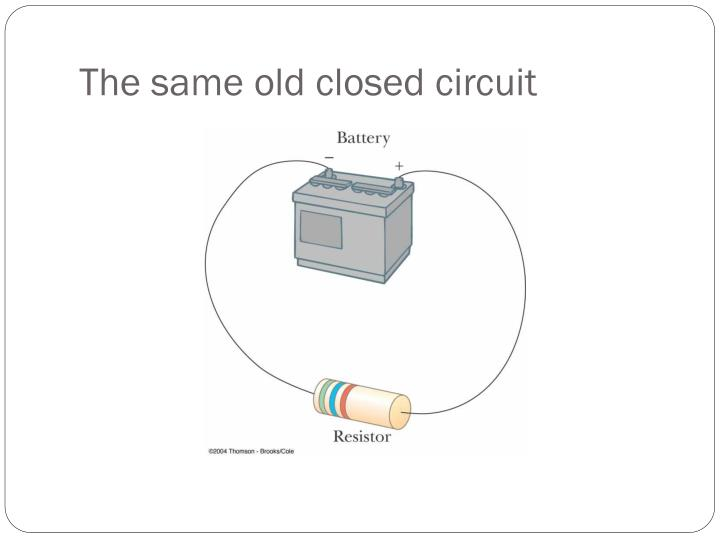 The same old closed circuit