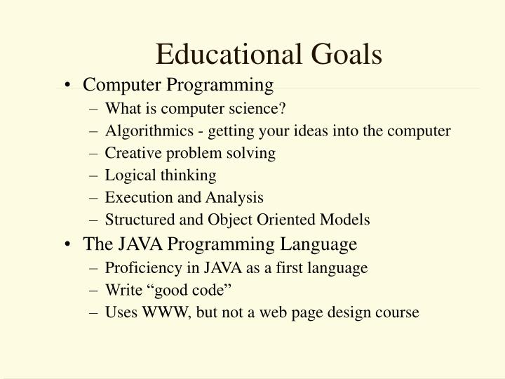 Educational Goals