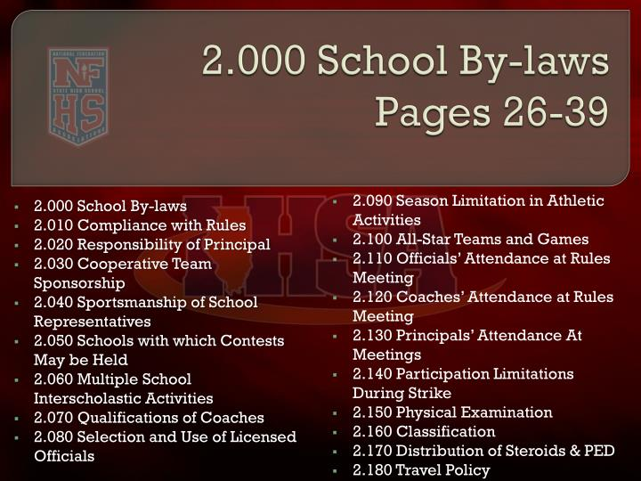2.000 School By-laws