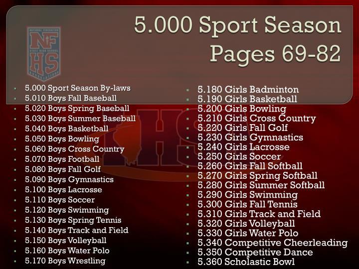 5.000 Sport Season