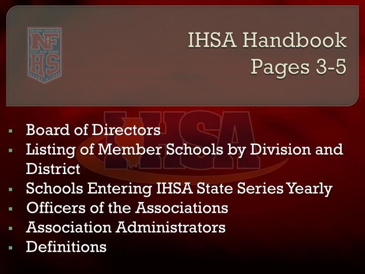 IHSA Handbook