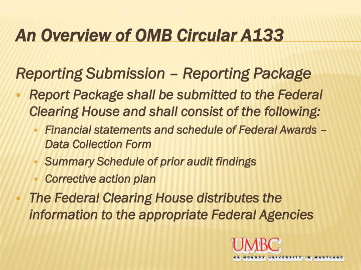 An Overview of OMB Circular A133