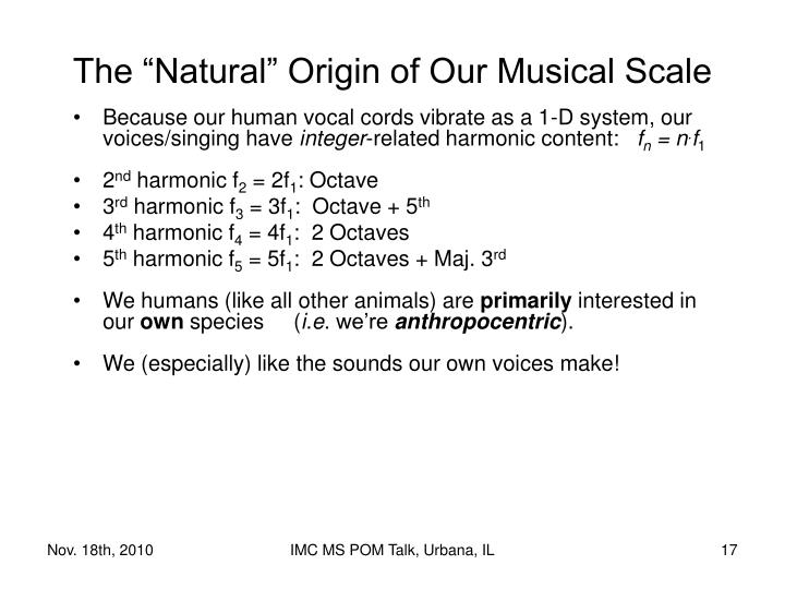 "The ""Natural"" Origin of Our Musical Scale"