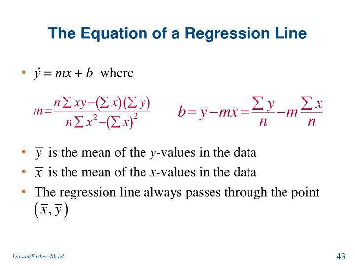 The Equation of a Regression Line