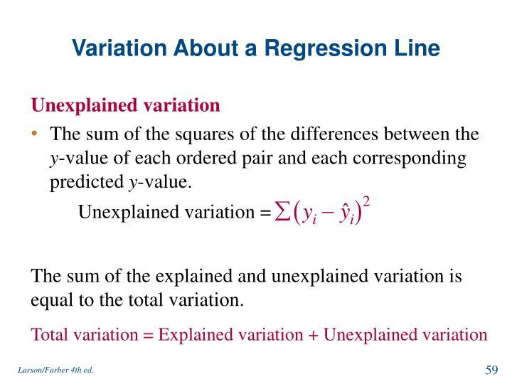 Variation About a Regression Line