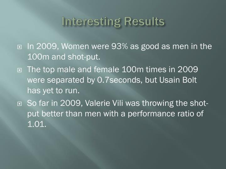 Interesting Results