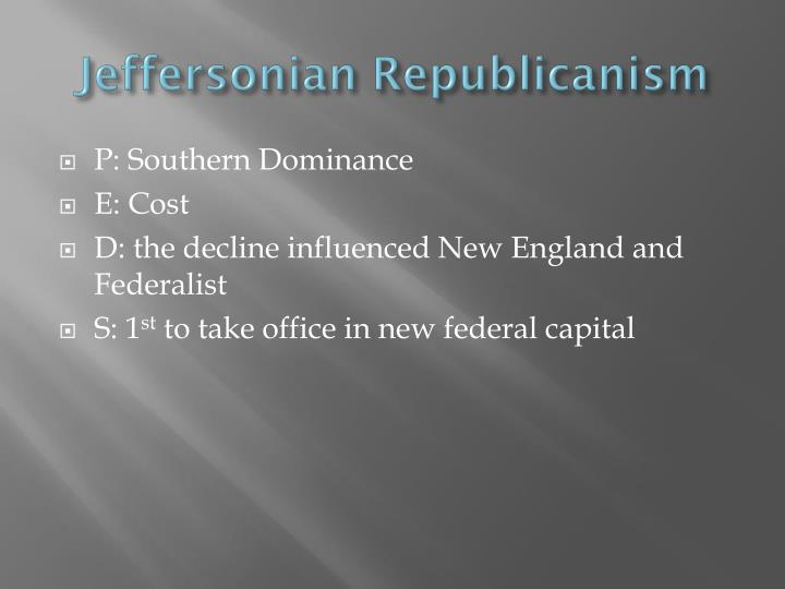 Jeffersonian Republicanism